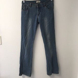 Max Studio flair jean with slit